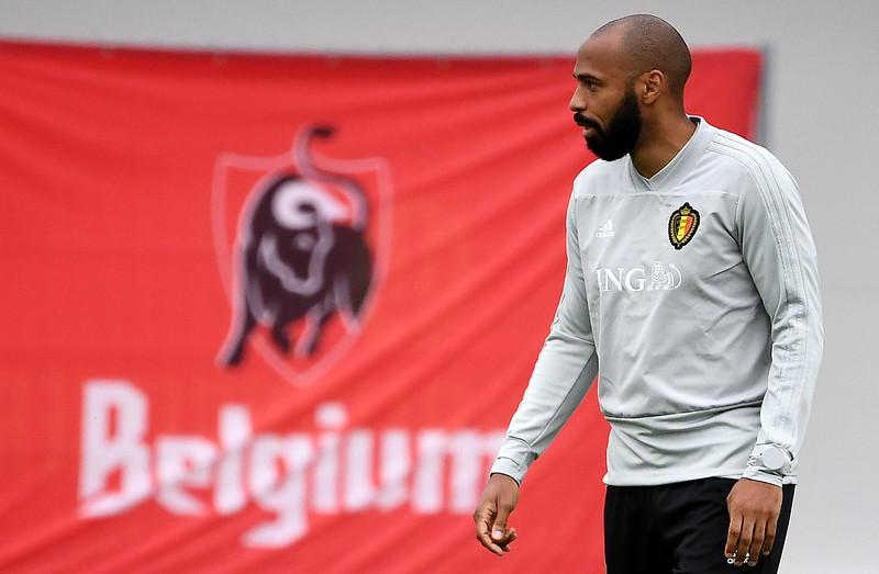 法國名將Thierry Henry擔任比利時助理教練。(AFP授權)