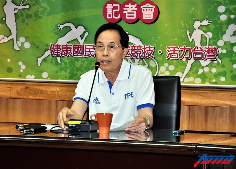 體育署代理署長王水文表示這屆亞運奪牌目標就是比上屆還高。(張哲郢/攝)