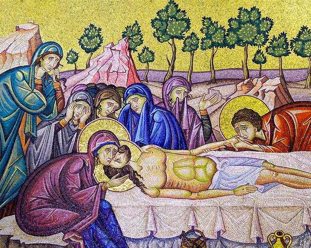 Mosaico del Santo sepulcro de Jerusalén