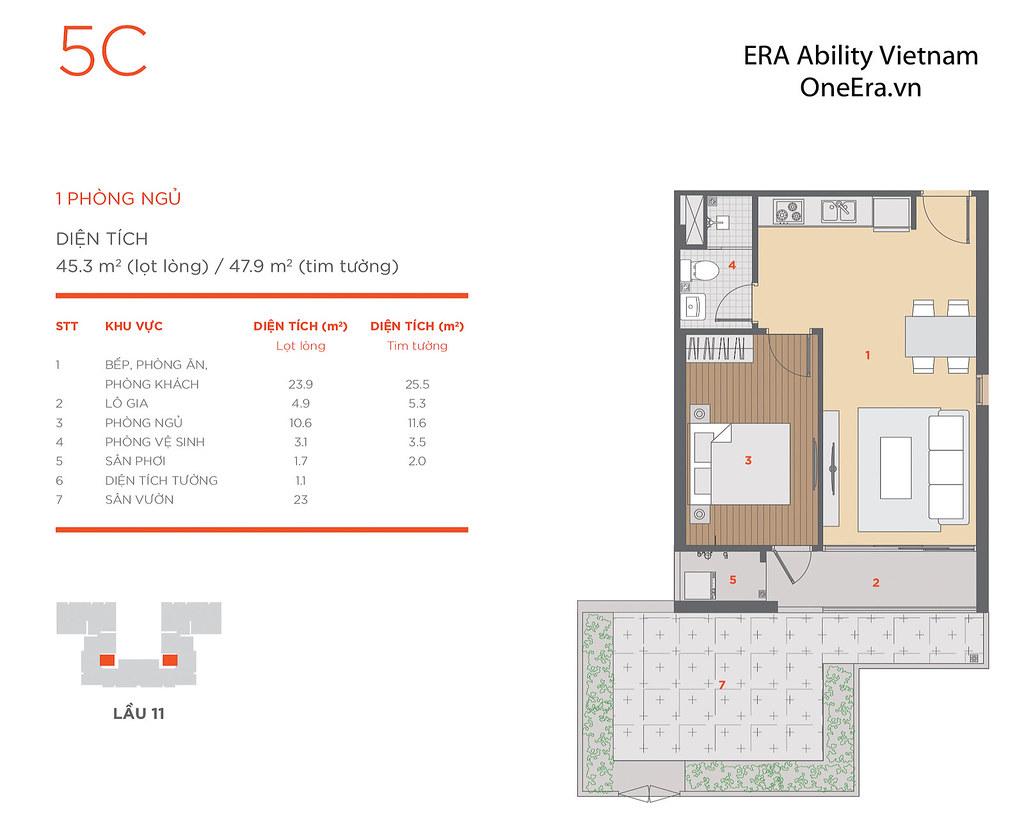 Mặt bằng tầng và thiết kế căn hộ Hausneo 57