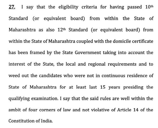 10, 12 from Maharashtra, Domicile Compulsory For DMER Maharashtra 2018 Counselling and Admission