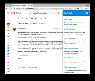 Email Studio adds Mail Merge and Email Scheduler Directly in Gmail | by labnol