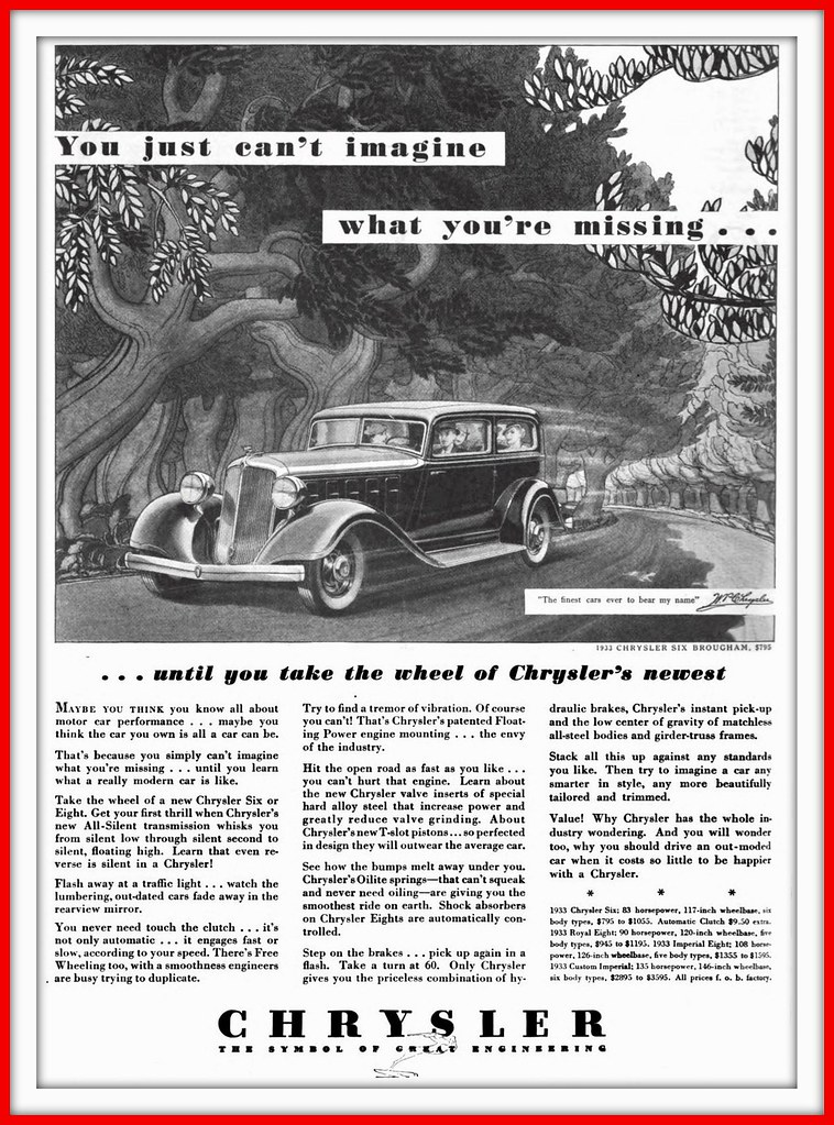 1933 Chrysler The Symbol Of Great Engineering Carlylehold Flickr
