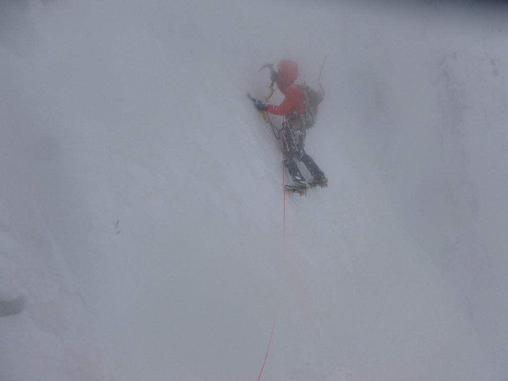 Ο Σπύρος Κυριακού στην πρώτη του χειμερινή αναρρίχηση