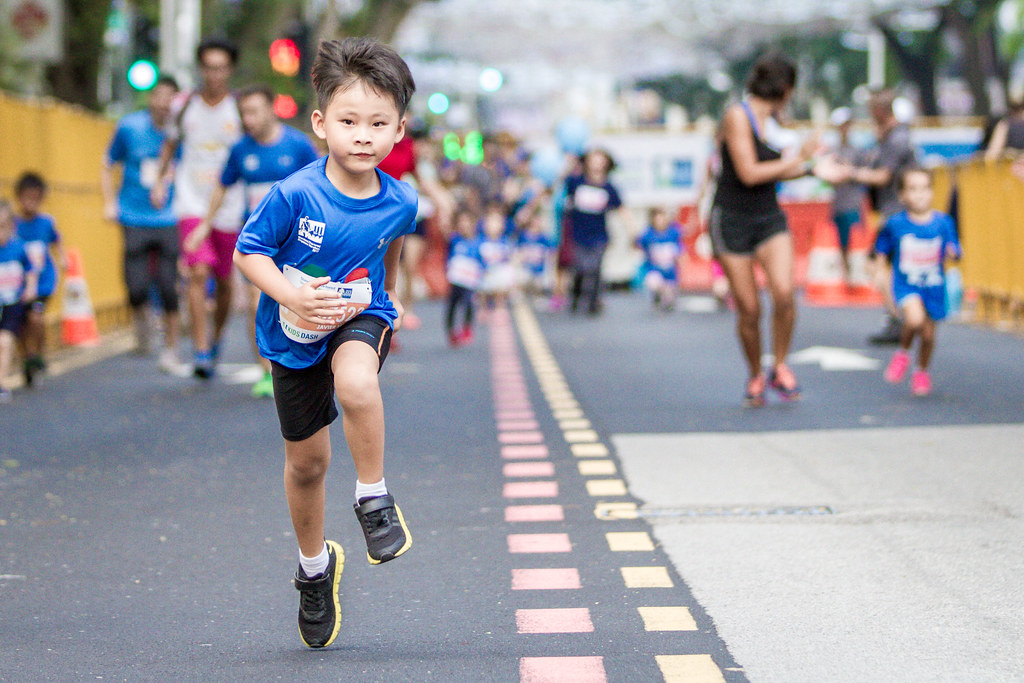 Kids ages four to 12 can participate in the non-competitive 600m fun run at the Universal Studios Singapore this year. Credit: Standard Chartered Singapore Marathon