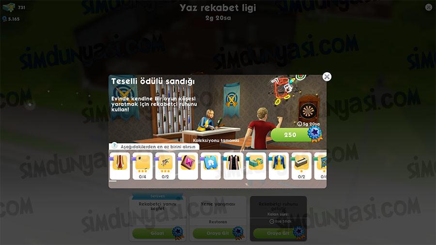 The Sims Mobile Yaz Rekabet Ligi Etkinliği