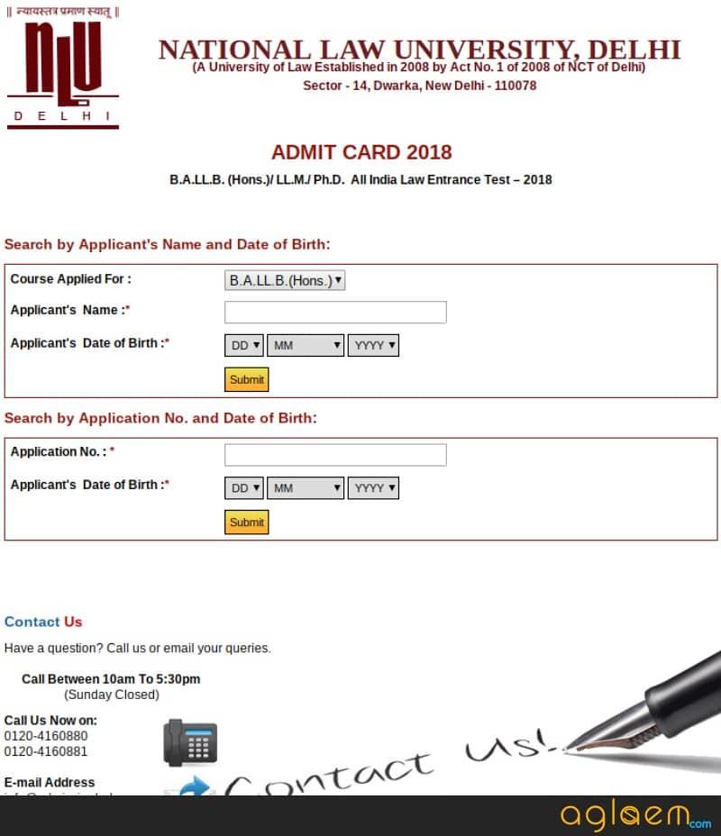 AILET 2019 Admit Card