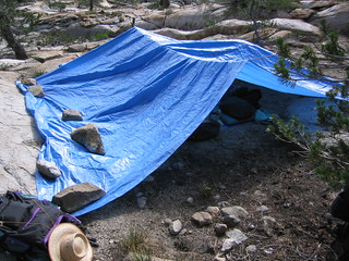 Mine and Forrest's Tarp-Tent | by Arthaey