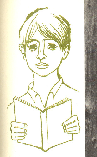 Growing Toward Peace: boy with book | by wardomatic