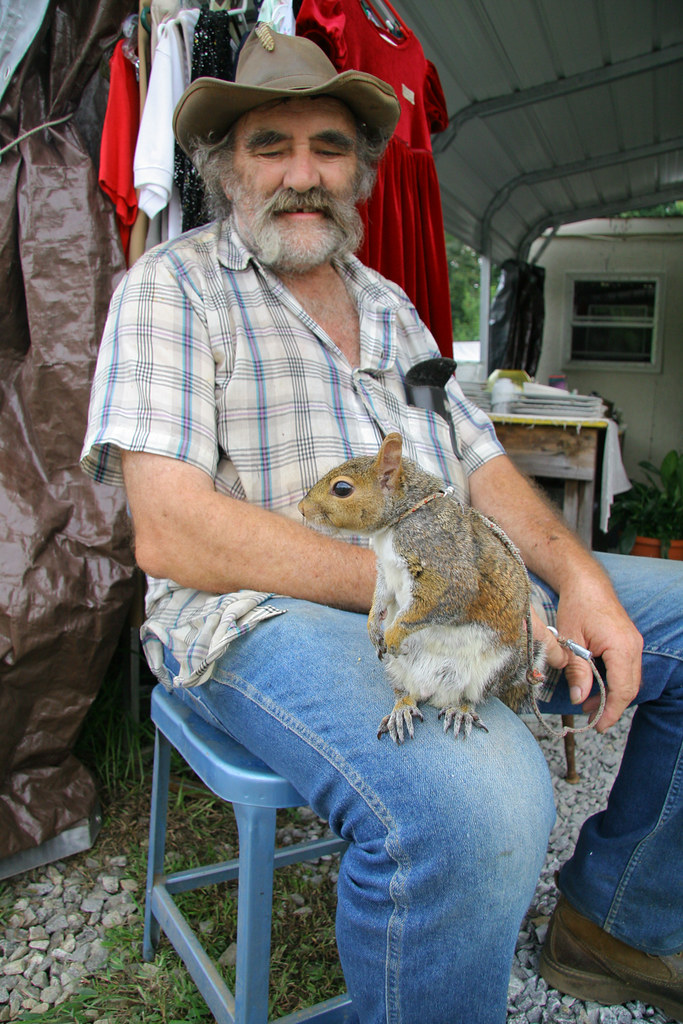 the cowboy herbert coward and his pet squirrel he likes