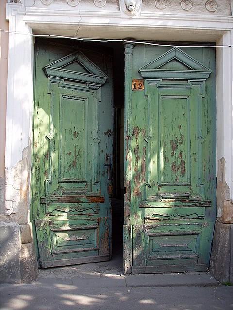 ... Old green door ajar | by Buzz Story & Old green door ajar | Buzz Story | Flickr