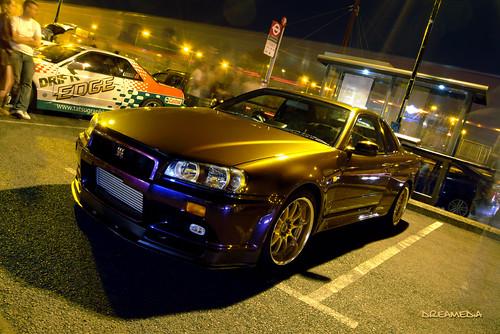 Midnight Purple Nissan Skyline Nissan Skyline Gtr R34 V