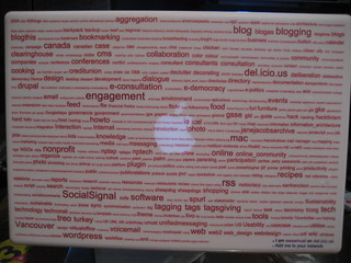MacBook with tag cloud | by awsamuel
