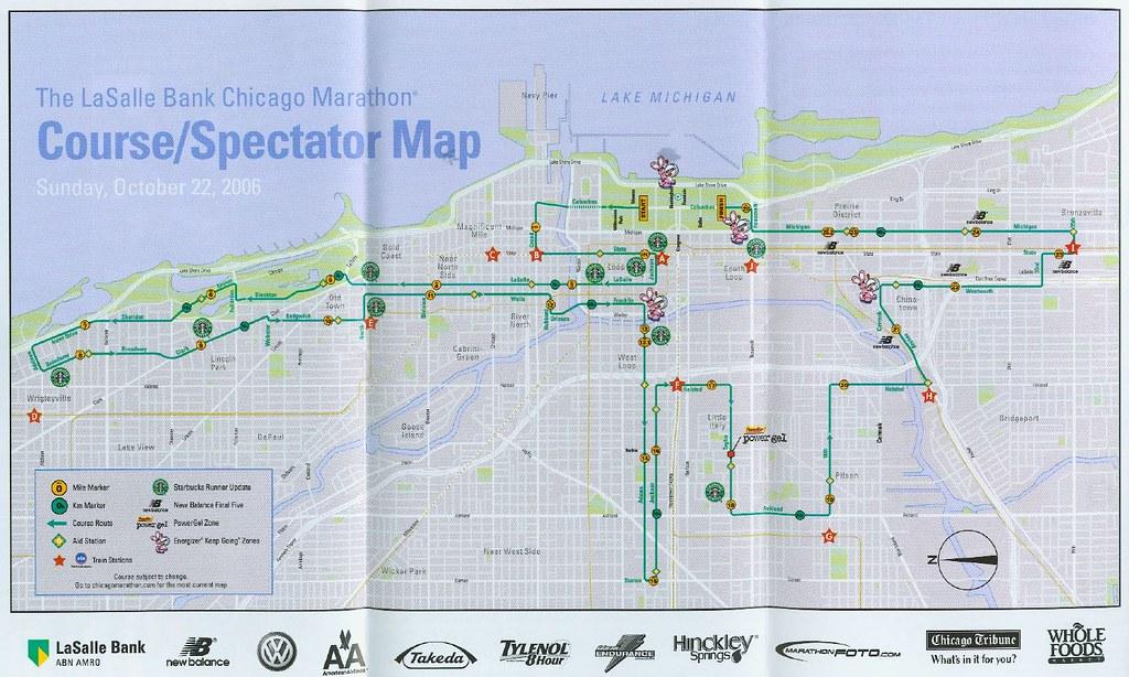 LaSalle Chicago Marathon MapRoute 10222006 jellybeanjill13