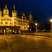 Schweriner Stadtschloss bei Nacht