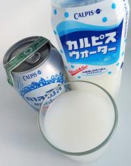 Japanse frisdrank Calpis