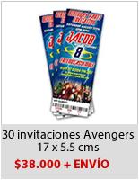 Avengers invitaciones Fiesta