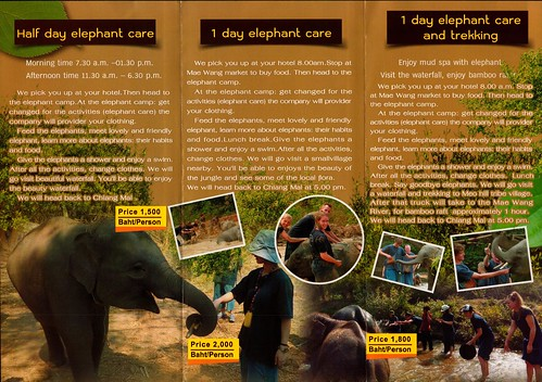 Elephant Family Care Chiang Mai Thailand Brochure 2