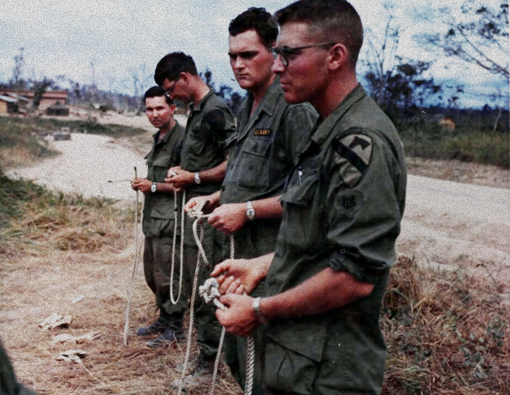 31 January 1967 An Khe RVN Members Of The 5th Battalion 7th Cavalry 1st Division Airmobile