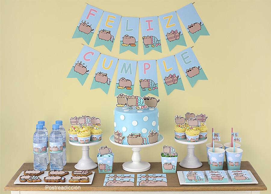 Kit de fiesta imprimible Pusheen