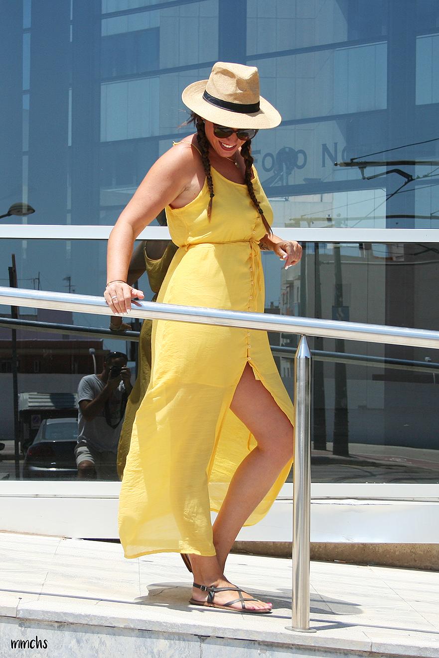 vestido amarillo moda