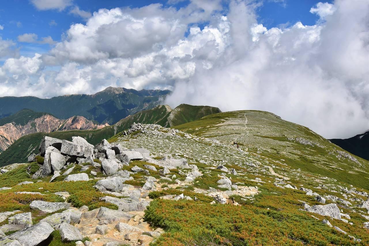 双六岳山頂からの展望