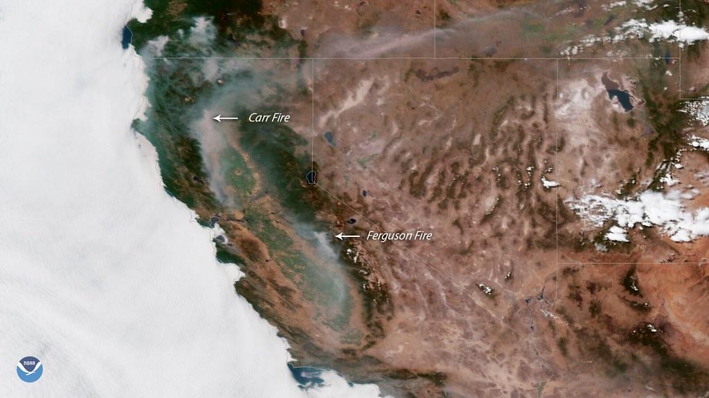 The Carr and Ferguson Fires Spread Smoke Across California…   Flickr