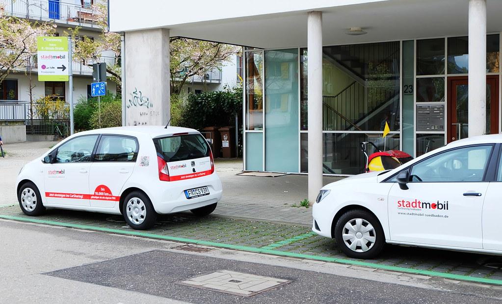 共享汽車在弗班擁有專屬停車位,便利的交通不打折