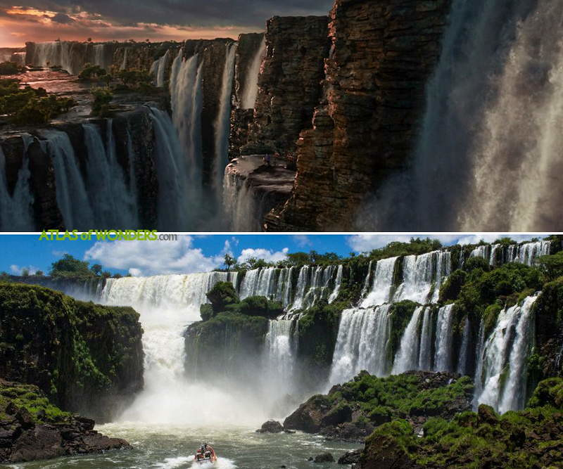 Waterfalls in the movie inspired by Iguazu