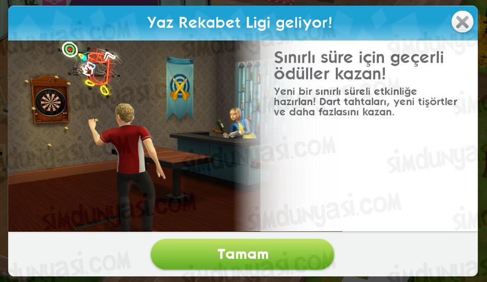 The Sims Mobile Summer Throwdown League Yaz Rekabet Ligi Geliyor