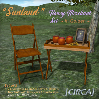"[CIRCA] - ""Sunland"" - Honey Merchant Set - Golden Wood 