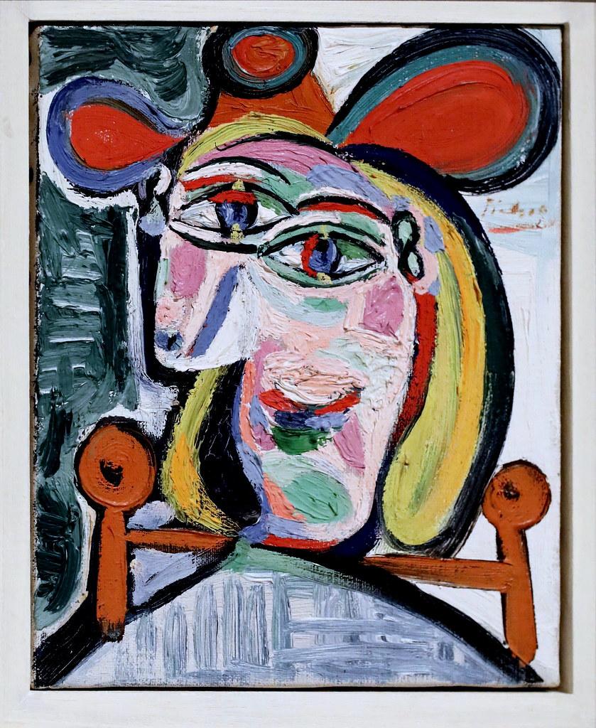 IMG_6564 Pablo Picasso. 1881-1973 Tête de femme au chapeau… | Flickr