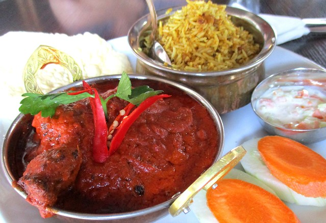 The Cafe IND butter curry chicken with biryani rice 1