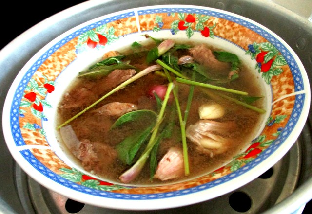 Wild boar soup with added ingredients 2