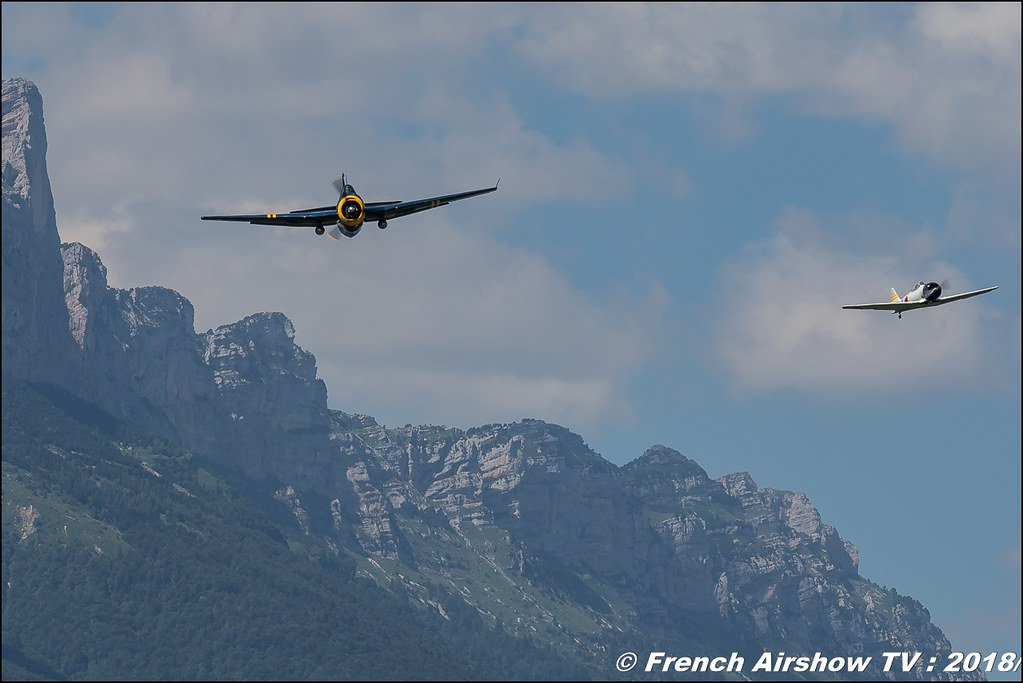 TBM-3R Avenger – HB-RDG & T-6 F-AZRO Aéro Rétro , Grenoble Air Show -Versoud 2018 , Meeting Aerien Meeting Grenoble , Alpes Dauphiné , alpes , Canon EOS , Sigma France , contemporary lens , Meeting Aerien 2018