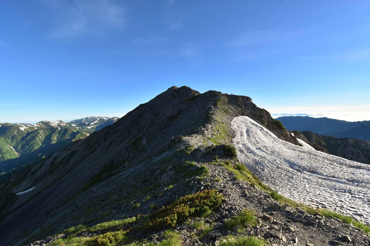 中岳から大喰岳への稜線