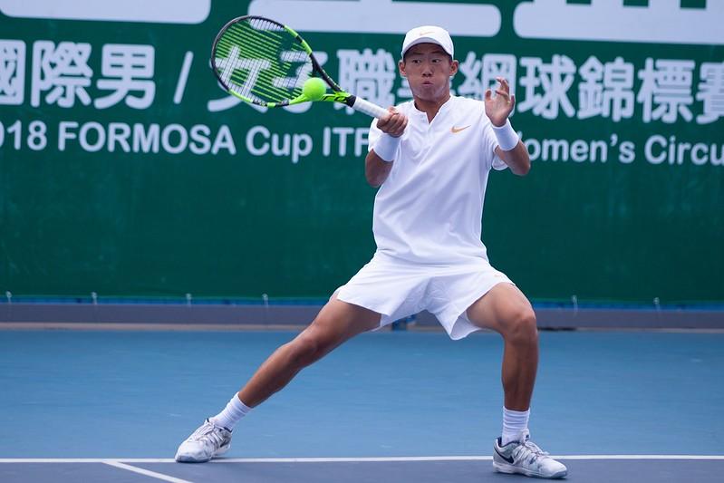 曾俊欣晉級美網男單青少年組8強。(資料照,海碩整合行銷提供)
