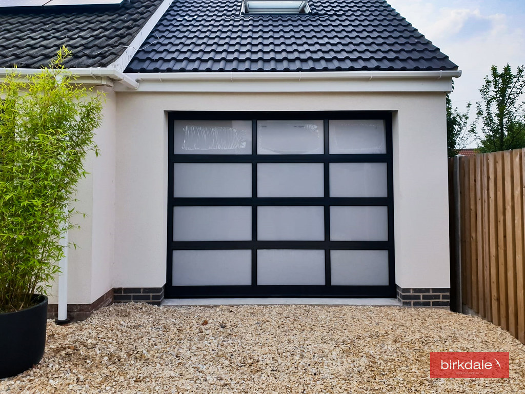Superieur ... Fully Glazed Sectional Garage Door   Frosted Glass And Anthracite Grey  Finish   5