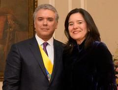 Iván Duque, Presidente de Colombia y Sylvia Constaín, MinTIC - Foto Presidencia de la República de Colombia