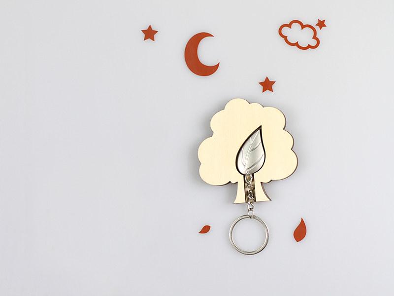 鑰匙圈 客製化 禮物 特色產品 居家 台灣設計 生日 葉子 樹 金屬 情人節 動物 療癒 聖誕節 收納 裝飾 吊飾 送禮 中性 木 楓木 胡桃木 鑰匙