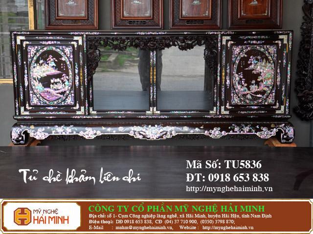 TU5836a Tu Che Kham Lien Chi do go my nghe hai minh
