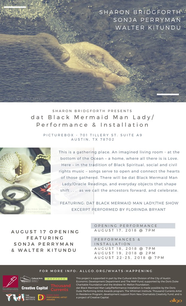 Flyer with info for dat Black Mermaid Lady Performance Installation