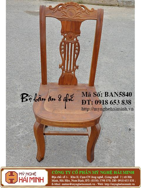 BAN5840c Bo Ban An 8 ghe do go my nghe hai minh
