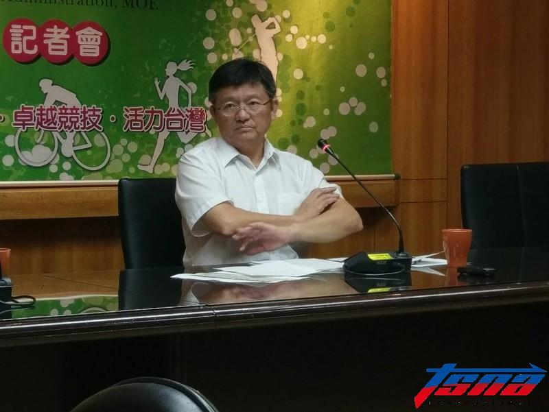 體育署副署長林哲宏。(張哲郢/攝)
