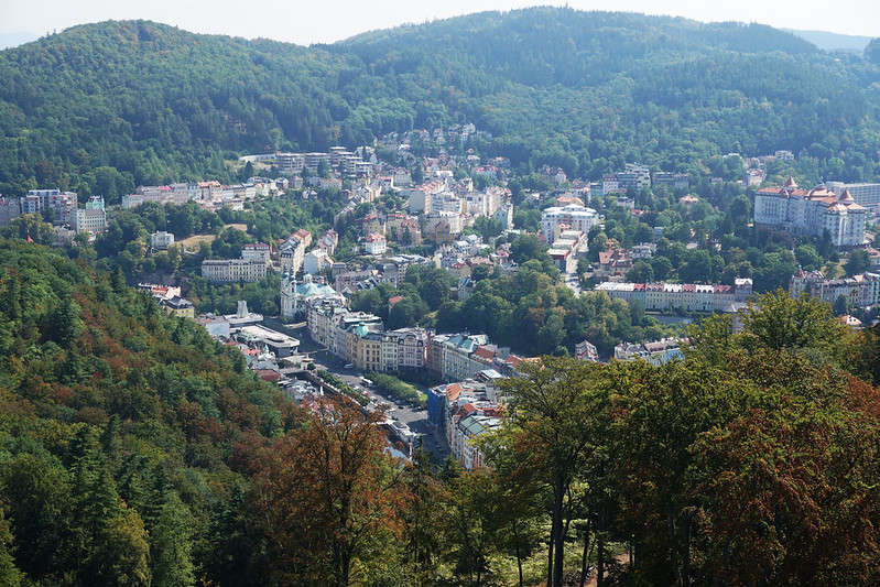 Karlovy Vary from above