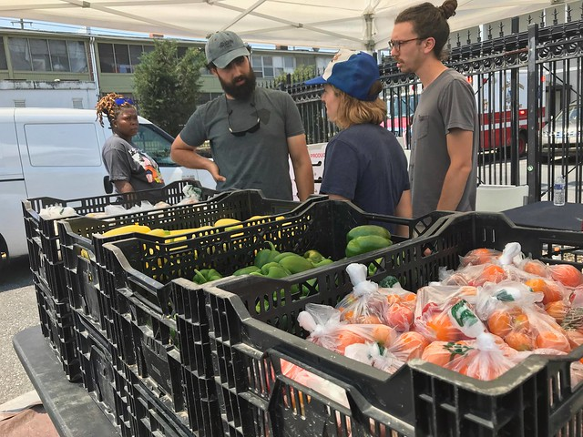 Community Foodworks staffers at a Pop-Up Food Hub in Washington D.C.