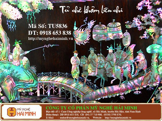 TU5836l Tu Che Kham Lien Chi do go my nghe hai minh