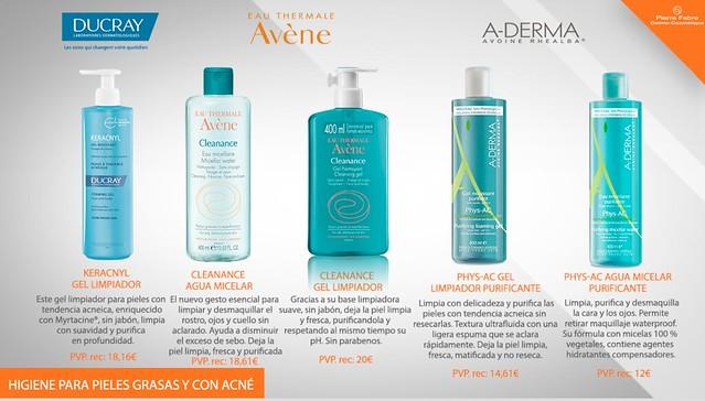 Higiene para pieles grasas y con acné Pierre Fabre