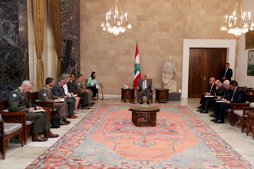 UNIFIL Head of Mission Major General Stefano Del Col meets with top Lebanese leaders | by UNIFIL - United Nations Interim Force in Lebanon