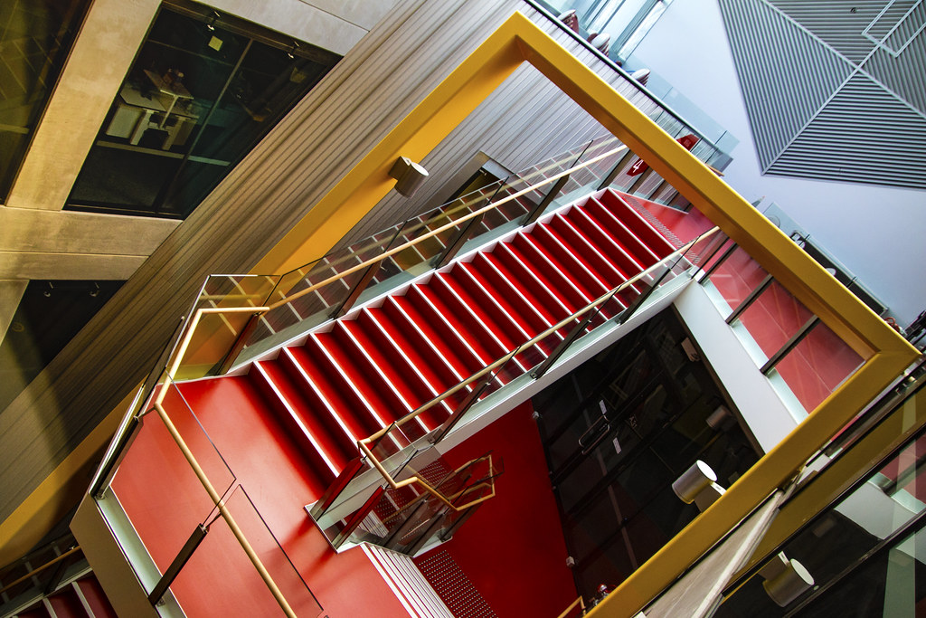 New horizon building stairwell features monash university flickr for Monash university swimming pool